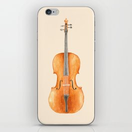 Cello - Watercolors iPhone Skin