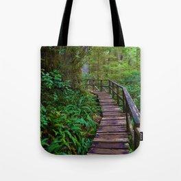 Rainforest Trail, Vancouver Island BC Tote Bag