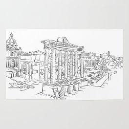 Ancient Rome roman forum Rug
