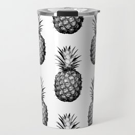 Black & White Pineapple Travel Mug