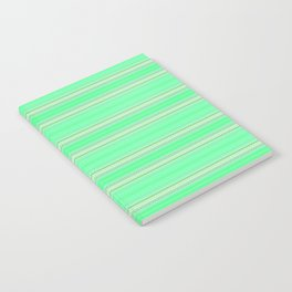 Mint Green Abstract XV Notebook