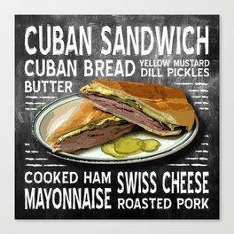 Cuban Sandwich Canvas Print