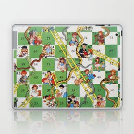 Vintage snakes and ladders Laptop & iPad Skin