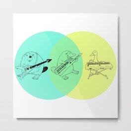 Keytar Platypus Venn Diagram Metal Print