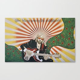 Wildflowers (Tom Petty Tribute Mural, Gainesville) Canvas Print