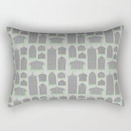 Birdcages (Gray) Rectangular Pillow