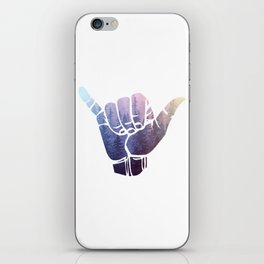 Rainbow Misty Forest Hang Loose iPhone Skin