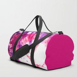 Modern Artsy Abstract Neon Pink Purple Tie Dye Duffle Bag