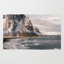 Stokksnes Icelandic Mountain Beach Sunset - Landscape Photography Rug