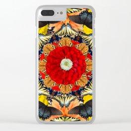 Persian carpet butterflies Clear iPhone Case