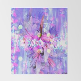 LILY IN LILAC AND LIGHT Throw Blanket
