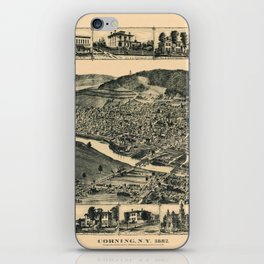 Map Of Corning 1882 iPhone Skin