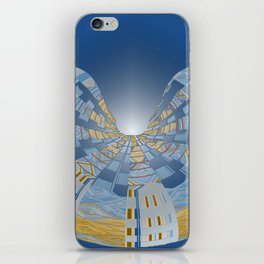 Briliant Blue Geometric Magi Donut iPhone Skin