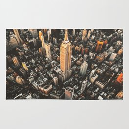 new york city aerial view Rug