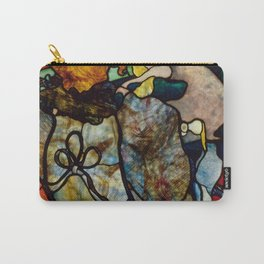 "Henri de Toulouse-Lautrec ""Papa Chrysanthème at the New Circus"" stained glass Carry-All Pouch"