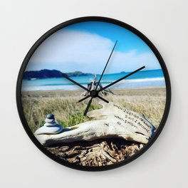 When I let go.....Lao Tzu Quote Wall Clock