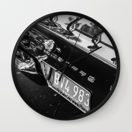 Vette Tail Wall Clock