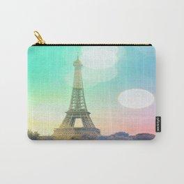 Paris. : Pastel Rainbow Bokeh Carry-All Pouch