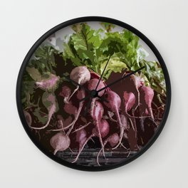 Ravishing Radishes! Wall Clock