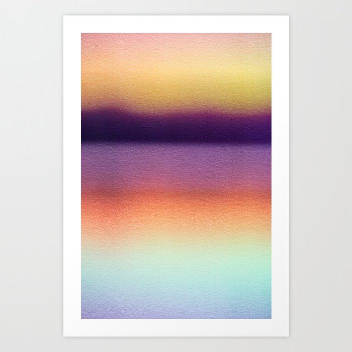 BLUR / mountain lake Art Print