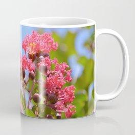 Blooming Pink Crepe Myrtle Flowers Coffee Mug