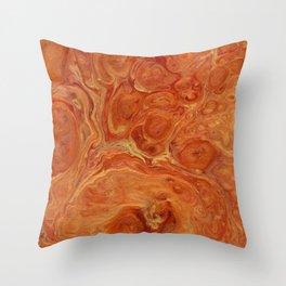 Burnt Orange Fire Lava Flow Throw Pillow