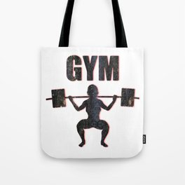 Gym Female Weightlifter Tote Bag