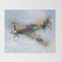 Hawker Hurricane Mk II Throw Blanket