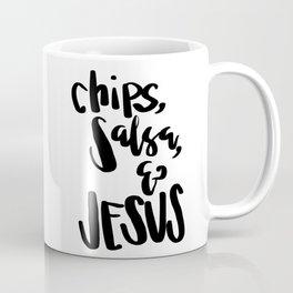 chips, salsa, & Jesus Coffee Mug