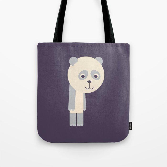 Letter P // Animal Alphabet // Panda Monogram Tote Bag