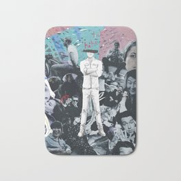 WHITE COLLAGE | Classic and Modern MOVIE Stars | digital Painting | Collage,digital print,art,poster Bath Mat
