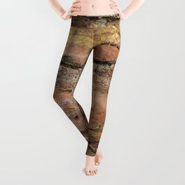 Excavated Roman Wall in England Leggings