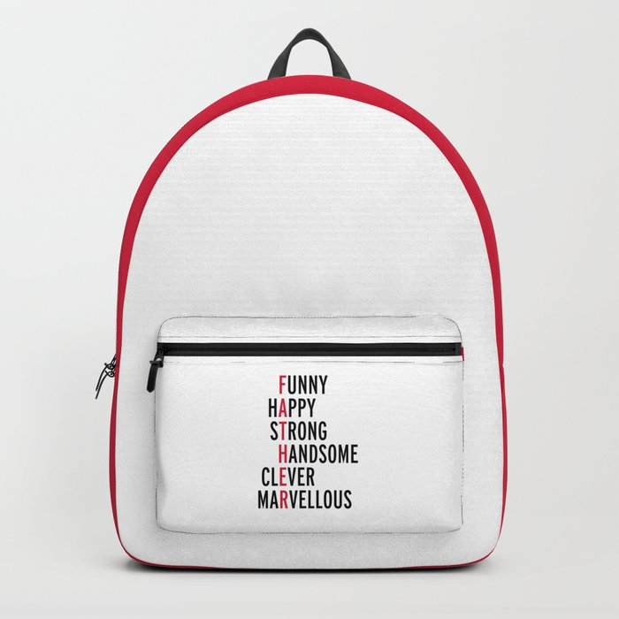 Father Quote Backpack