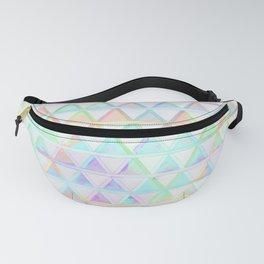 Bright Rainbow Geometric Triangle Pattern Design Fanny Pack