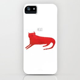 Hello red cat iPhone Case