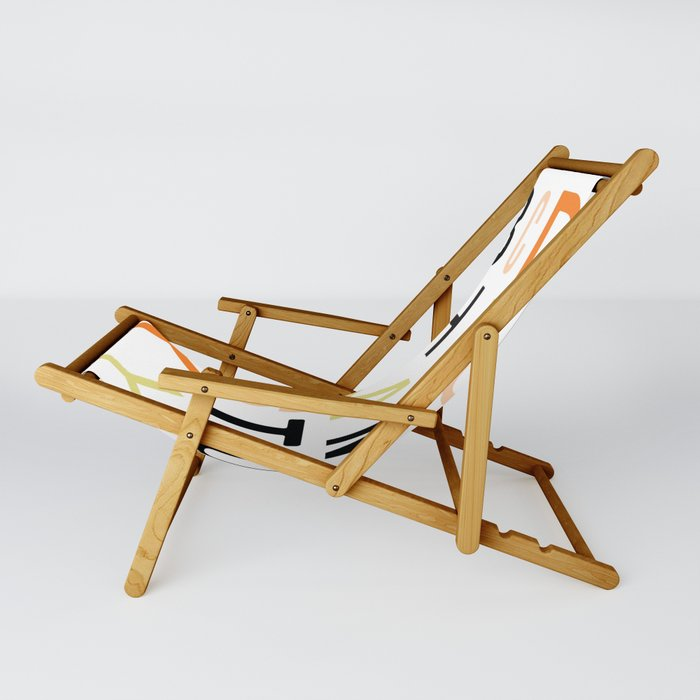 Eclectic Alphabet Sling Chair