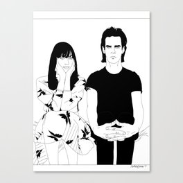 Nick and Susie Cave Canvas Print