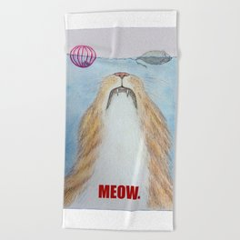 Meows. Beach Towel