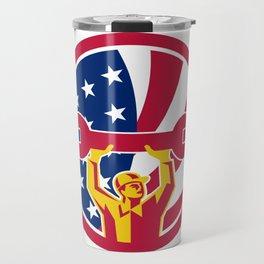 American Mechanic USA Jack Flag Icon Travel Mug