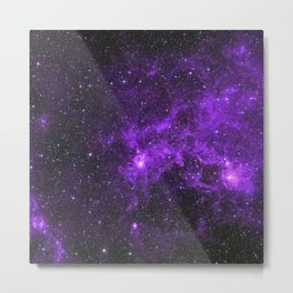 Ultraviolet Space Nebula Metal Print