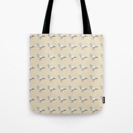 Pigeons on parade Tote Bag