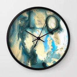 Golden Reef Wall Clock