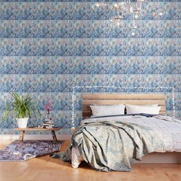 Triangle Pattern no.17 Light Blues Wallpaper