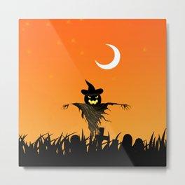 Nightmare Halloween Starry Night Metal Print
