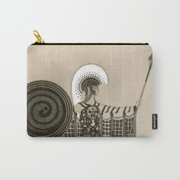 """Art Deco Sepia Illustration """"Athena"""" Carry-All Pouch"""