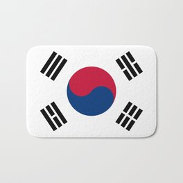 National flag of South Korea, officially the Republic of Korea, Authentic version - color and scale Bath Mat