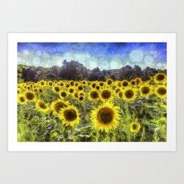 Sunflower Fields Of Dreams Art Art Print