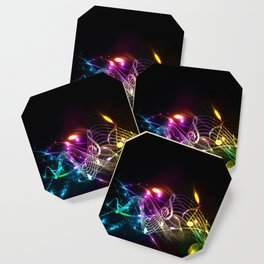 Music Notes in Color Coaster
