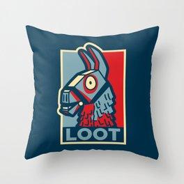 Loot Llama Hope v2 Throw Pillow