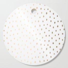 Golden Polka Dots Cutting Board